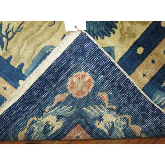 Antique Chinese Pictorial Elephant Rug, 4'9'' X 7'8'' For Sale - Image 12 of 13