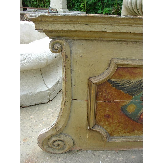 18th Century Painted Overdoor from Nice, France For Sale - Image 4 of 6