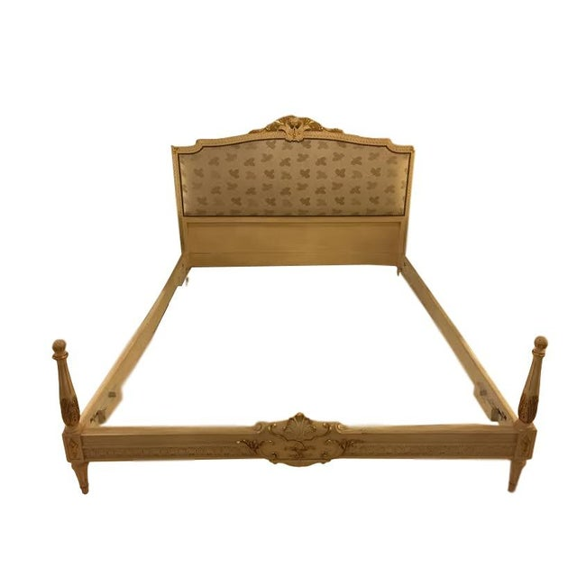 Painted French Louis XVI Style Bed - Image 1 of 7