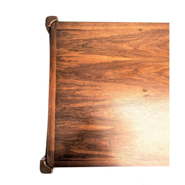 Mid-Century Modern Bassett Furniture Industries Walnut Coffee Table For Sale - Image 9 of 13