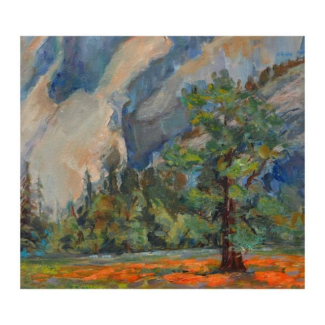 Gorgeous landscape of Glacier Point by listed Los Angeles and Carmel artist Helen Enoch Gleiforst (American, 1903-1997)....
