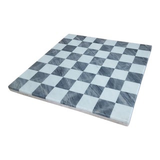 Vintage Marble Chess Checker Game Board