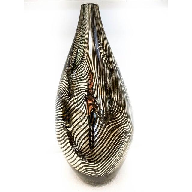 Alberto Donà 21st Century Murano 24k Gold Giungla Italian Vase by Dona For Sale - Image 4 of 6
