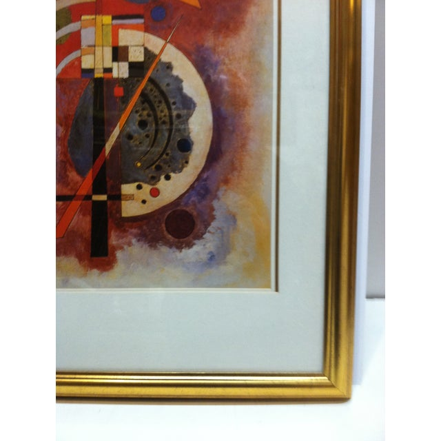"""Original """"Abstract Geometric Figures"""" Framed & Matted Print by Wassily Kandinsky For Sale - Image 4 of 8"""