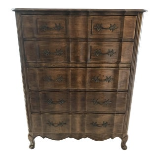 French Provincial Tall Boy Dresser
