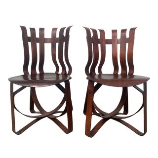 1990s Vintage Frank Gehry for Knoll Hat Trick Chairs, Unmarked - A Pair