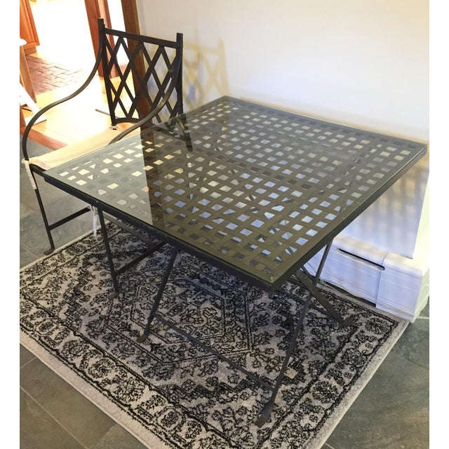 Antique Wrought Iron Table - Image 2 of 5