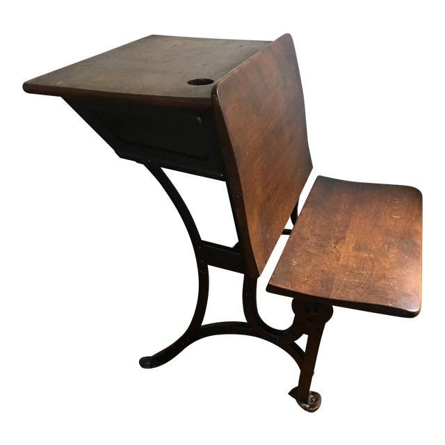 1916 Early American Heywood Wakefield School Desk For Sale