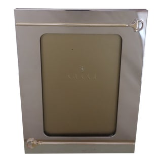 1970s Gucci Silver Plate Horsebit Picture Frame For Sale