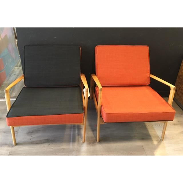 Mid-Century Modern Pair Mid Century Chairs For Sale - Image 3 of 8