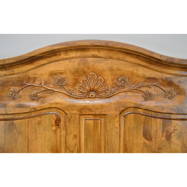 French Country Style Quality High Back Pine King Headboard For Sale - Image 12 of 13