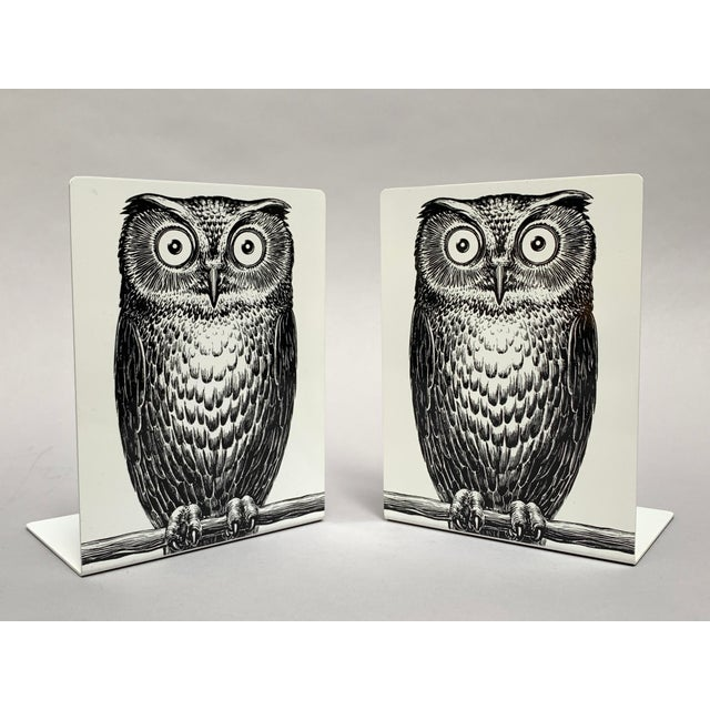 Fornasetti Fornasetti Owl Bookends - a Pair For Sale - Image 4 of 12
