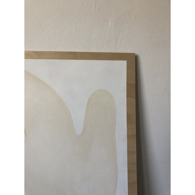 White Play Abstract Acrylic Painting For Sale - Image 8 of 11