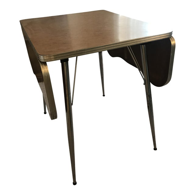 Chrome Trim Formica Table - Image 1 of 10