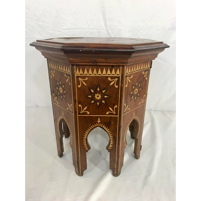 1950s Syrian Octagonal Folding Traveling Table For Sale - Image 5 of 9