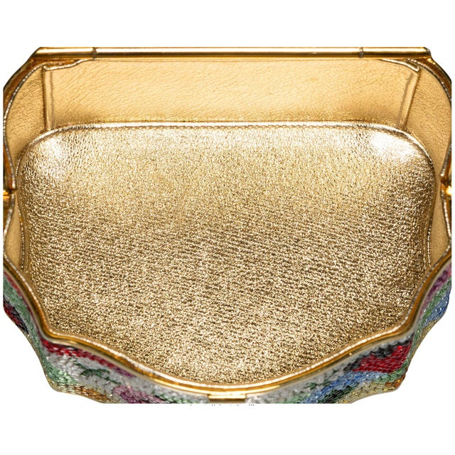 Pop Art Judith Leiber Sweat Meat Box Pop Art Novelty Gold Minaudiere Evening Bag Vintage For Sale - Image 3 of 5