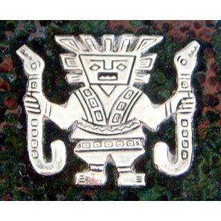Vintage Aztec Cigarette / Cigar Box, Solid Silver Appliqué on Copper (Humidor) Preview