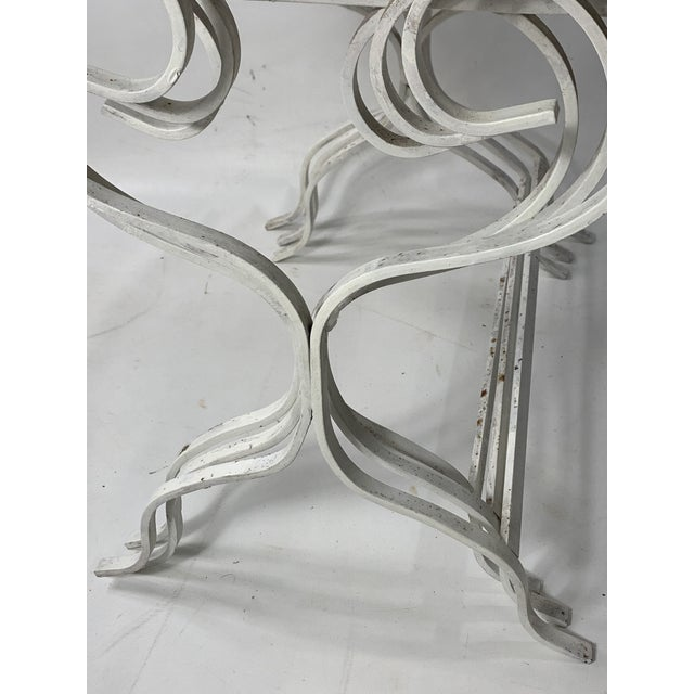 1950s 1950s Mid-Century Modern Salterini Tempestini Wrought Iron Nesting Tables - Set of 3 For Sale - Image 5 of 11
