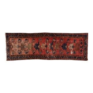 Antique Persian Hamadan Runner - 03'04 X 09'11 For Sale