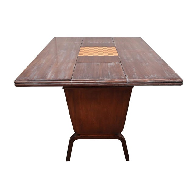 Mid-Century Modern Danish Moderne Extending Game Table For Sale - Image 3 of 7