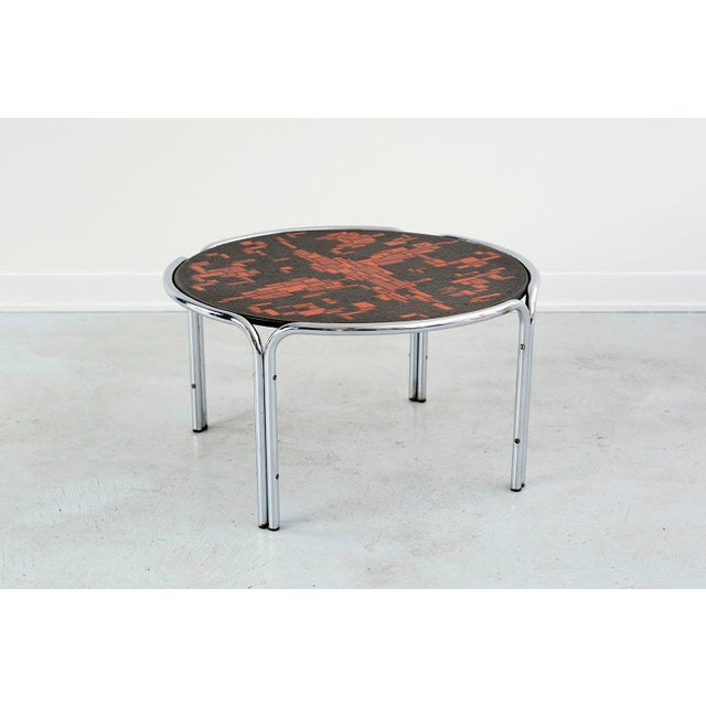 Mid-Century Modern Mid-Century Cocktail Table Attributed to Roger Capron For Sale - Image 3 of 7