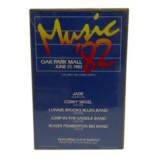 """Circa 1982 """"Music '82 Concert Series"""" Poster For Sale"""