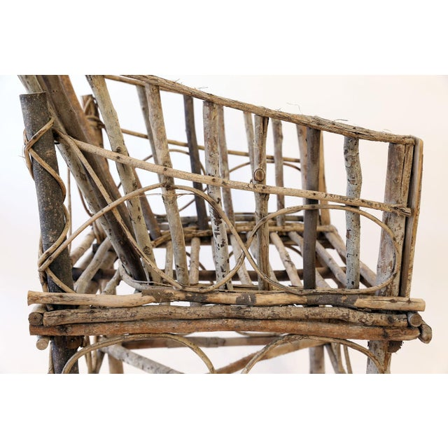 Wood Antique French Twig Chair For Sale - Image 7 of 13