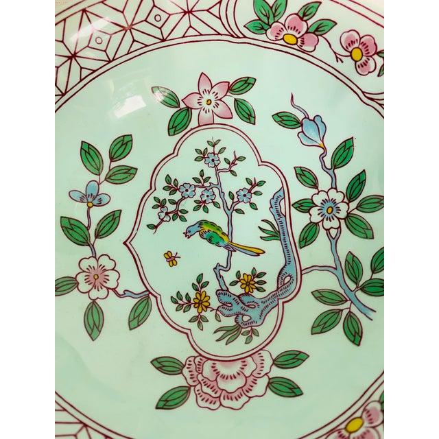 Mid 20th Century Adams Calyx Ware Singapore Bird Pattern Jar & Bowl - Set of 2 For Sale - Image 4 of 6