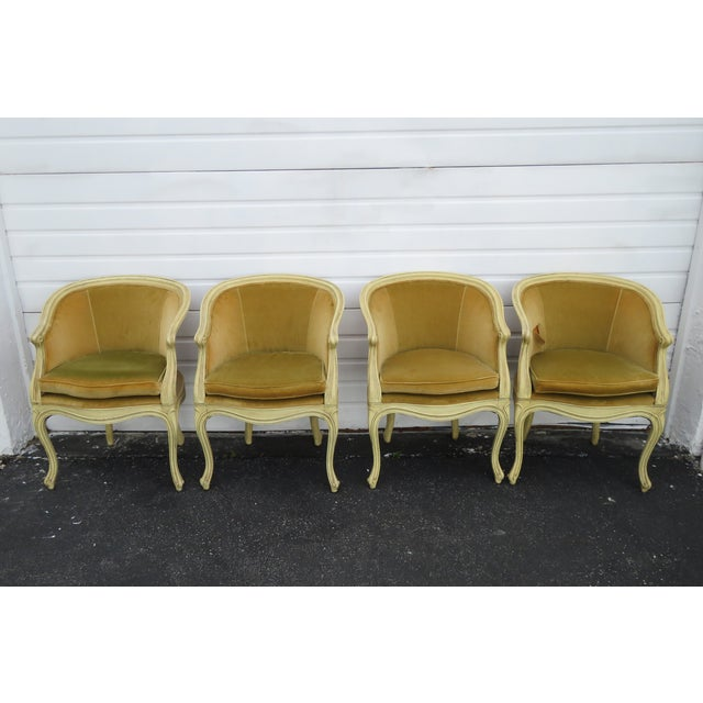 French Burl Shape Four Side Chairs by Jamestown Lounge Co 2112 For Sale - Image 13 of 13