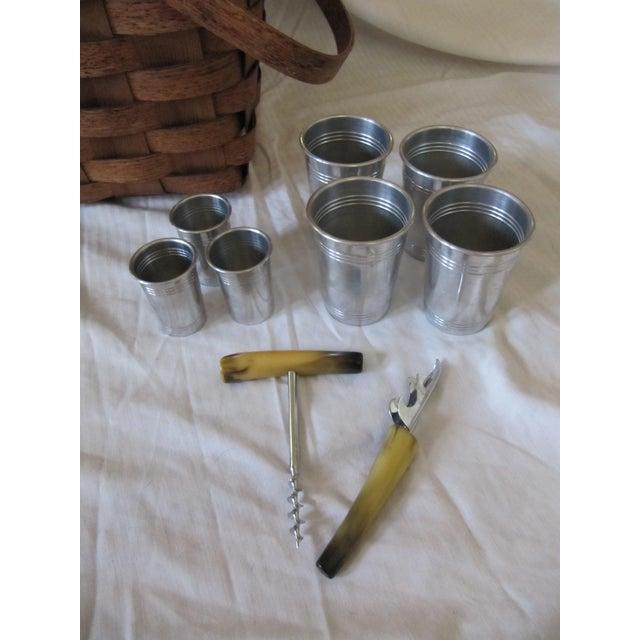 Vintage Picnic Drinks Basket For Sale - Image 4 of 6