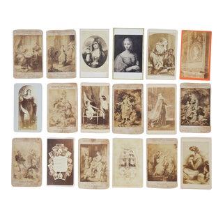 Antique Collection Grand Tour Portrait Art Photographs - Set of 18 For Sale