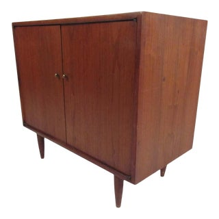 Mid-Century Modern Walnut Cabinet For Sale