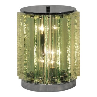 Italian Chiseled Glass Table Lamp For Sale