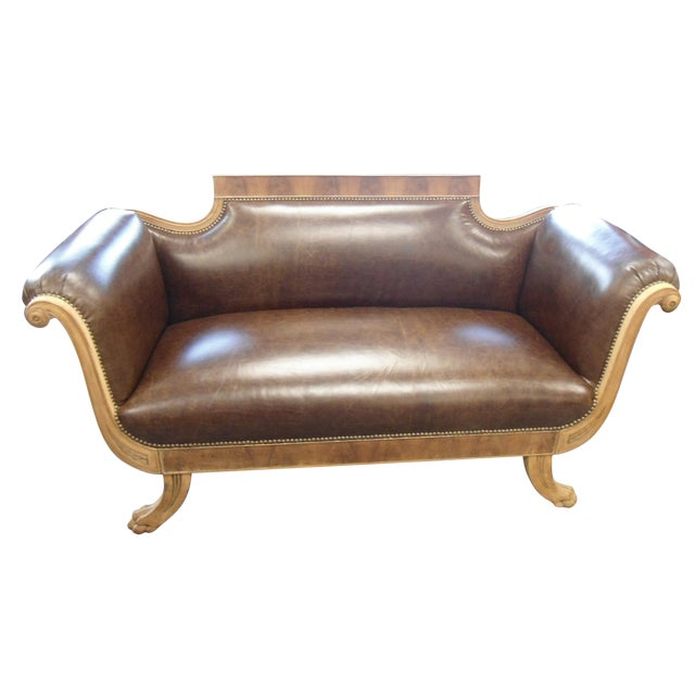 Antique American Empire Settee - Image 1 of 7