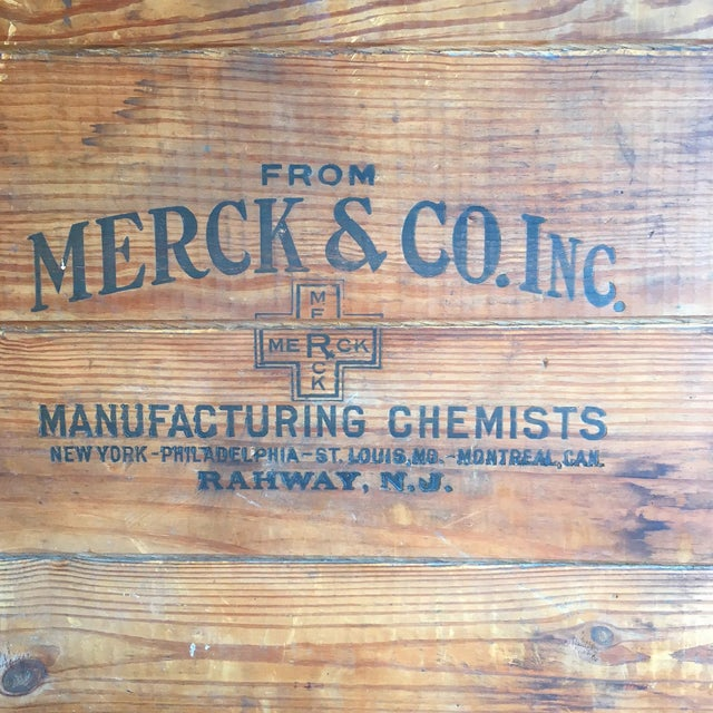 Antique Wooden Merck & Co. Crate - Image 8 of 8