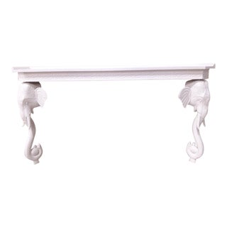 1980s Regency Gampel Stoll Elephant Console For Sale