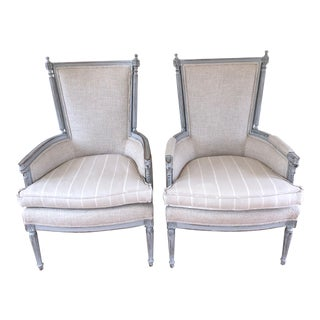 Mid Century Antique French Chairs- A Pair For Sale