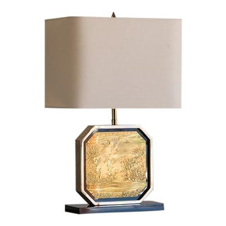 Billy Baldwin Inspired Vintage French Brass Lamp circa 1960 For Sale