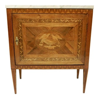 19th Century Neo-Classical Italian Inlaid Cabinet For Sale