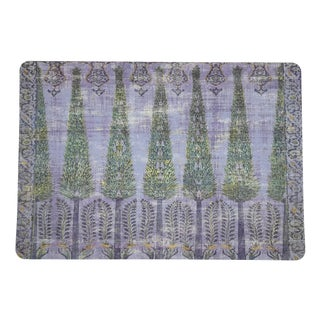 Nicolette Mayer Topkapi Garden Gold Purple Rectangle Pebble Placemats, Set of 4 For Sale