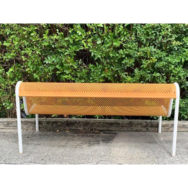 Miami Modern Wrought Iron Sculptural Long Bench For Sale - Image 4 of 11