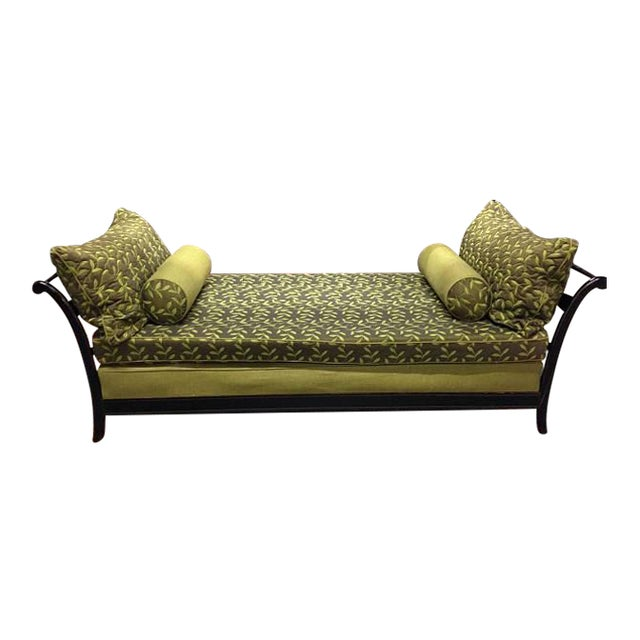 Antique Day Bed With Cushions - Image 1 of 5