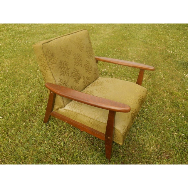 Danish Modern Olive Green Lounge Chair - Image 2 of 6