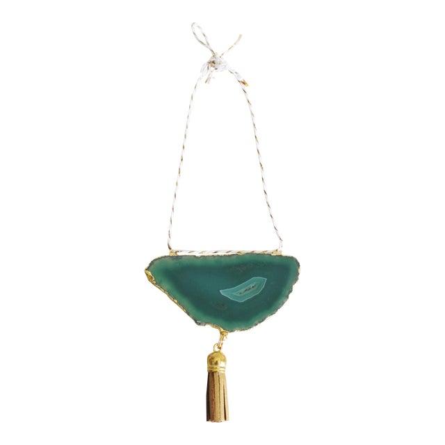Modern Boho Green/Emerald Agate Holiday Ornament - Image 1 of 6