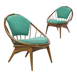 "Ib Kofod Larsen Pair of ""Hoop"" Chairs For Sale"