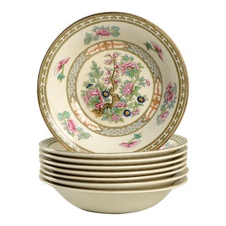 Crown Ducal Indian Tree Small Bowl - Set of 8 For Sale