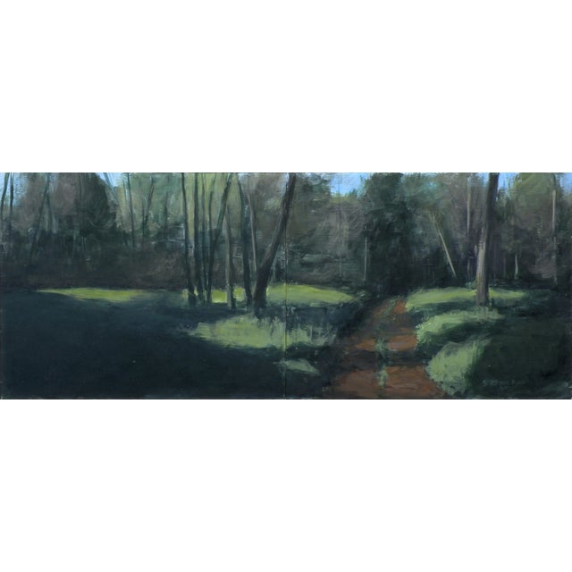 Original Painting - Old Road In The Woods - Image 1 of 3