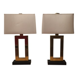 Robert Abbey Tall Doughnut Collection Table Lamps - A Pair