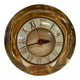 Telechron Gold Mercury Glass Electric Roman Numeral Clock For Sale