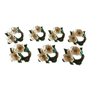 Dogwood Napkin Rings - Set of 7 For Sale